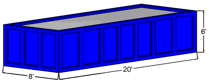 30 Cubic Yard Open Top Container