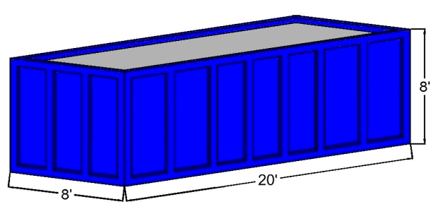 40 Cubic Yard Open Top Container