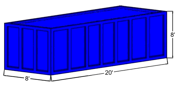 Covered-Box Commercial/Industrial Trash Compactor